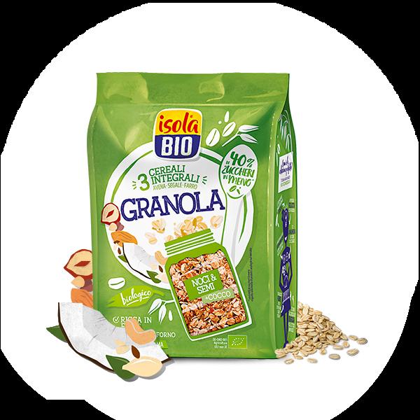 cereali noci cocco