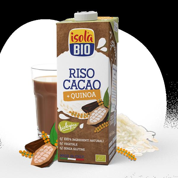 bevanda riso cacao quinoa